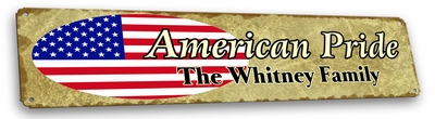 USA Vintage Metal Sign