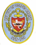 USS City of Corpus Christi SSN-705 Patch