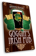 Vintage Metal Irish Pub Sign