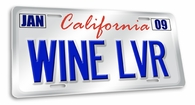 Wine LVR License Plate Cover