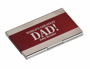 World's Greatest Dad Business Card Holder