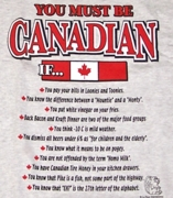 You Must Be from Canada Shirt