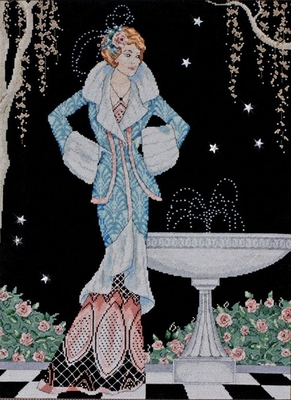 Counted Cross Stitch Kit Midnight Fountain From Design Works