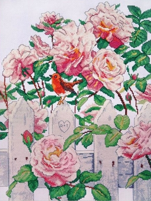 Cross Stitch Kit Roses in Provence From Design Works