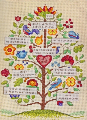 Cross Stitch Kit Vintage Family Tree From Dimensions