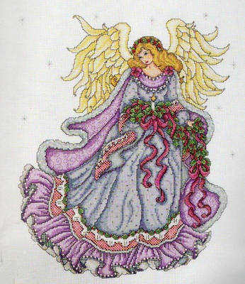 Cross Stitch Kit Winter Angel From Design Works