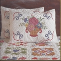 Stamped Cross Stitch Kit Baltimore Album Shams From Bucilla