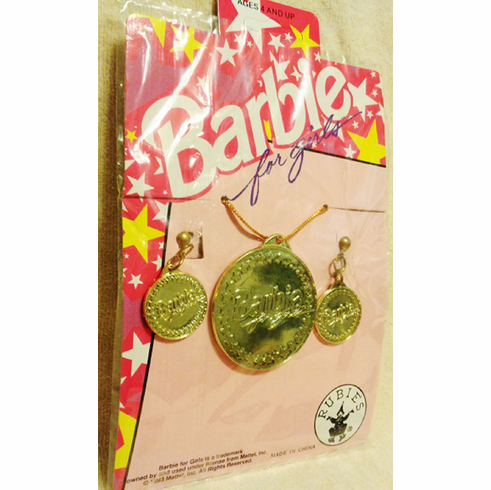 Barbie Girl's Earring and Necklace Set