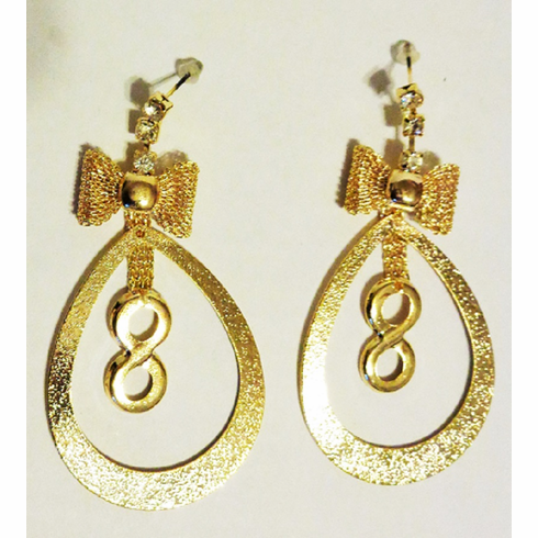 Infinity Oval Earrings