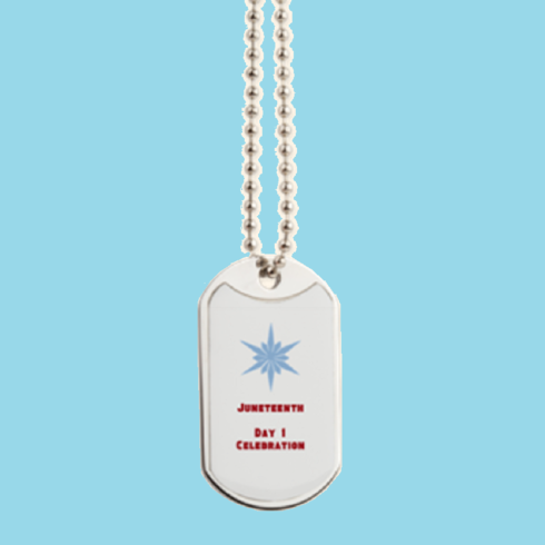 Juneteenth Dog Tag Necklace