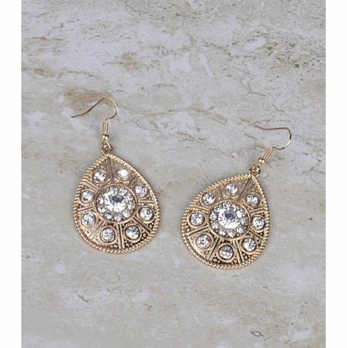 Sparkle shield earrings