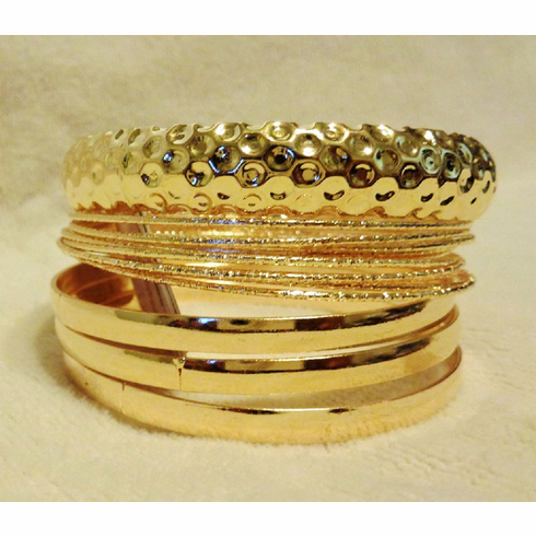 Stacked Golden Bracelet