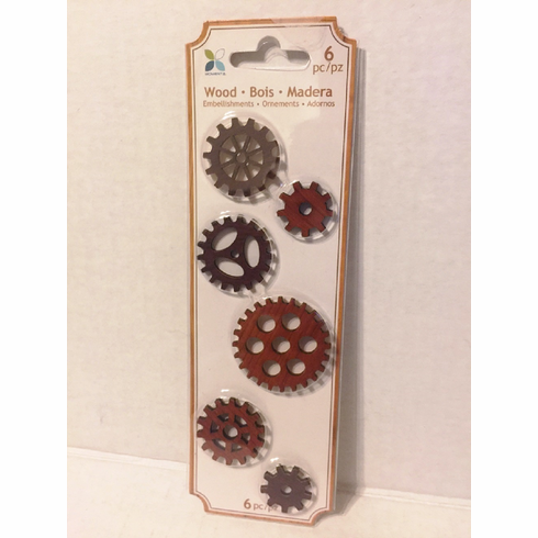 Steampunk Wooden Gear Embellishment