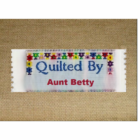 Quilted by, Label-48