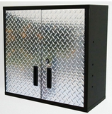 30 inch Diamond Plate and Steel Wall Cabinet