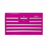 """33"""" Eight Drawer Pink Tool Chest"""