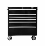 "33"" Six Drawer Rolling Black Tool Box"