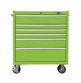 "33"" Six Drawer Rolling Lime Tool Box"