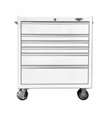 "33"" Six Drawer Rolling White Tool Box"