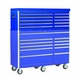 "56"" W 10 Drawer Blue Professional Top Tool Box"