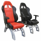 Black and Red Race Car Guest Chairs