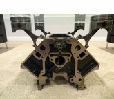 Chevy Engine Block Black and Chrome Coffee Table