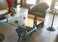 Chevy Engine Block Chrome Coffee Table