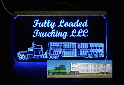 Color Changing LED Livestock Truck Sign