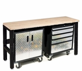 Diamond Plate and Steel Base Cabinets and Workbench