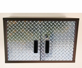 Diamond Plate and Steel Short Wall Cabinet