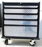 Diamond Plate Five Drawer Modular Base Cabinet