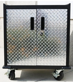 Diamond Plate Two Door Modular Base Storage Cabinet