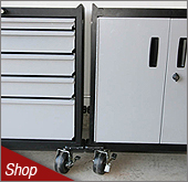 Gray Steel Garage Cabinets
