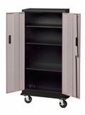 Gray Steel Garage Storage Locker