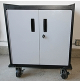 Gray Two Door Modular Base Storage Cabinet