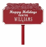 Happy Holidays with Bells Lawn Stake