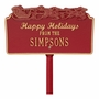 Happy Holidays with Sleigh Personalized Lawn Stake