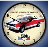 Lighted 1969 American Motors Rambler Clock