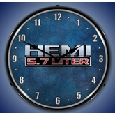 Lighted 5.7 Liter Hemi Clock