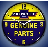 Lighted Chevrolet Genuine Parts Clock