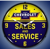 Lighted Chevrolet Sales and Service Clock