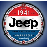 Lighted Jeep 1941 Clock