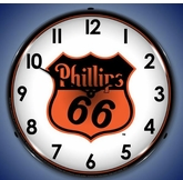 Lighted Phillips 66 Clock