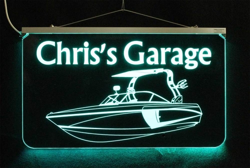 Personalized LED Color Changing Boat Sign