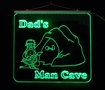 Personalized LED Color Changing Man Cave Sign
