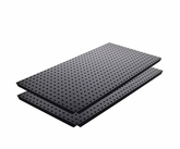 "Two Black Powdercoated 16"" x 32"" Metal Pegboard"