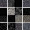 10 Black/Gray Tonal Fat Quarter Collection (2 1/2 Yards)