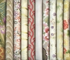 10 IVORY ASIAN JAPANESE FAT QUARTERS (2 1/2 YDS)