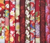 10 RED ASIAN JAPANESE FAT QUARTERS (2 1/2 Yds.)