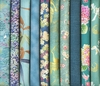 10 Turquoise Fat Quarter Collection (2 1/2 Yds)
